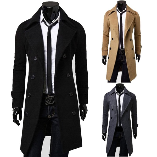 2015-winter-fashion-Solid-Color-Turndown-Collar-Double-Breasted-Design-Long-Sleeves-Woolen-Black-Trench-Coat